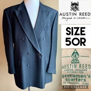 Austin Reed Mens Suit Jacket Navy Double Breasted
